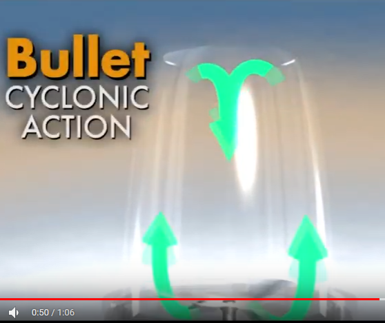 Bullet cyclonic action