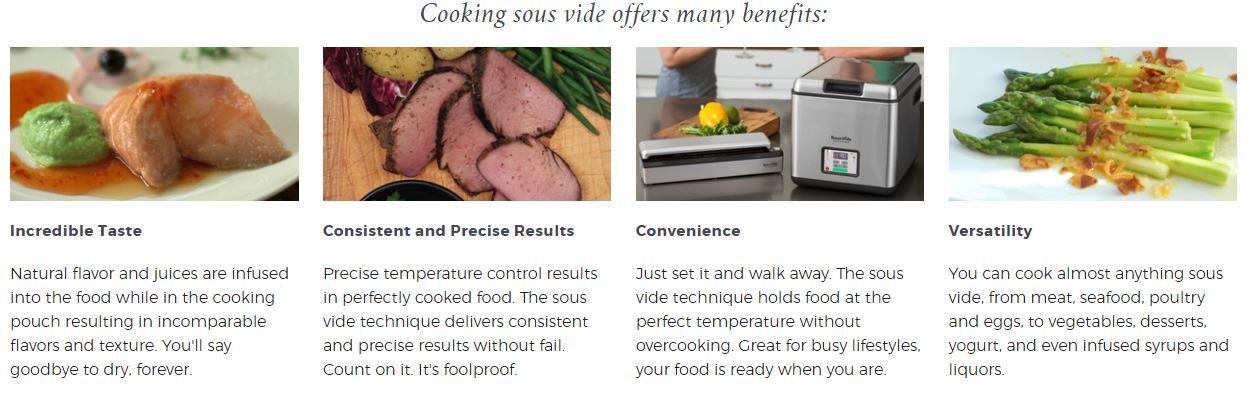 Benefits of souse vide