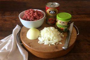 Ingredients for Tex Mex food