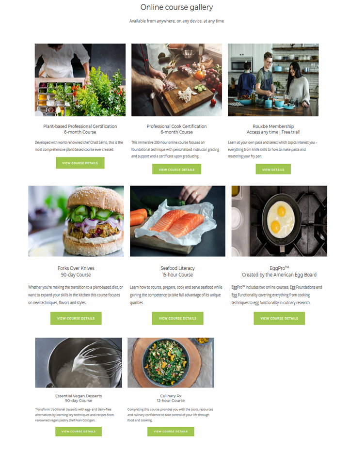 Rouxbe Affordable Online Culinary School courses